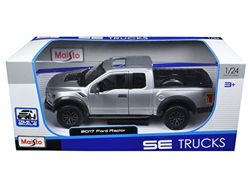 Maisto 31266 2017 Ford Raptor F150 Scale 124 Metallic Grey by