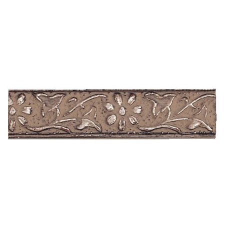 Picture Frame Moulding (Wood) - Ornate Pewter Finish - 0.625