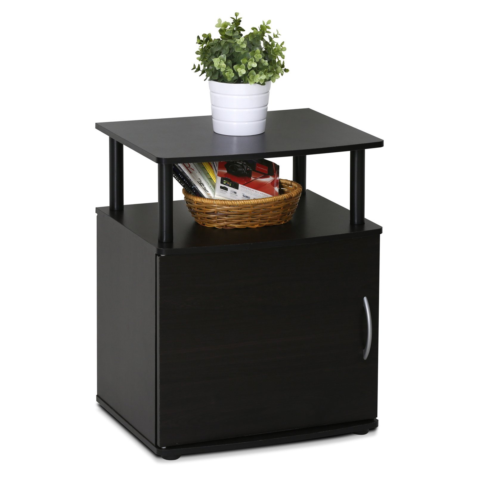 Furinno JAYA Utility Design End Table, 15114BKW by Overstock
