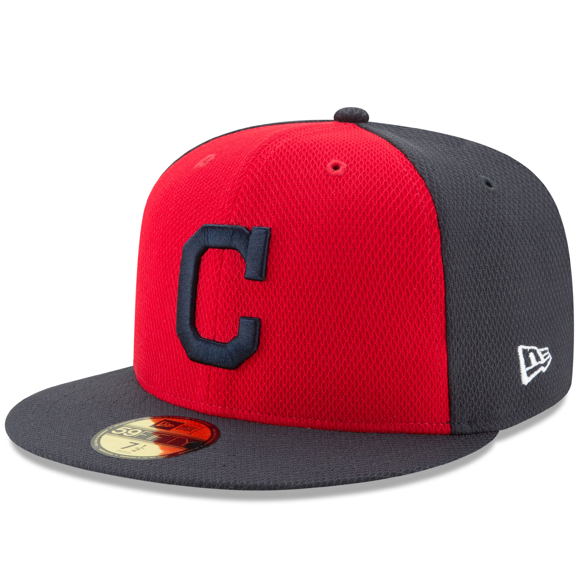 Men's New Era Red/Navy Cleveland Indians Diamond Era 59FIFTY Fitted Hat