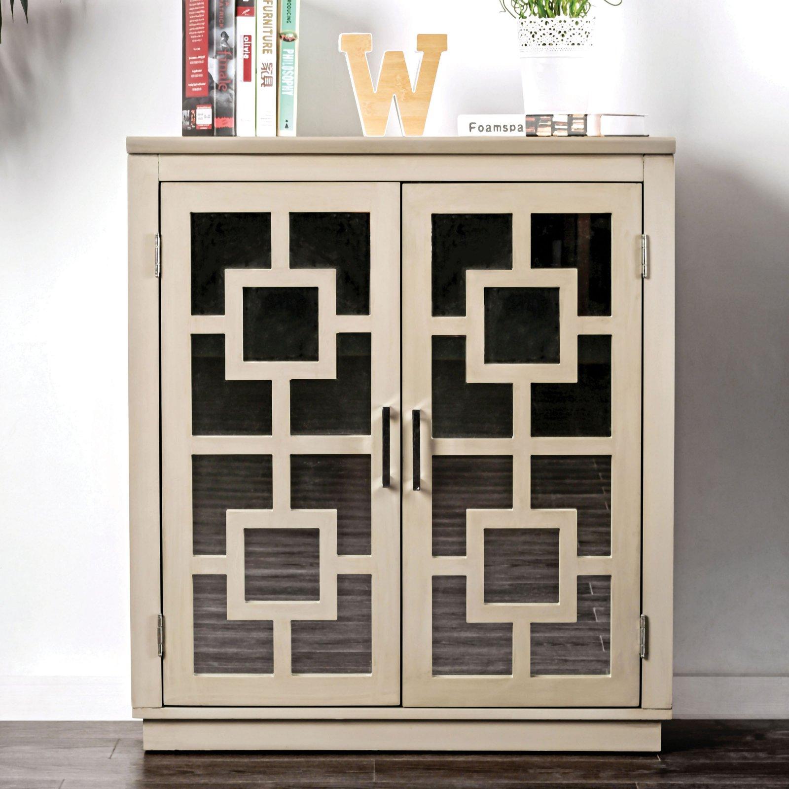 Furniture of America Eradynne Contemporary Style Double Door Hallway Cabinet