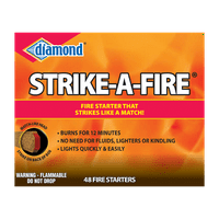 Diamond Strike-A-Fire Fire Starters, 48 Ct Strikes Like a Match, for for Lighting Grills, Fireplaces and Firepits
