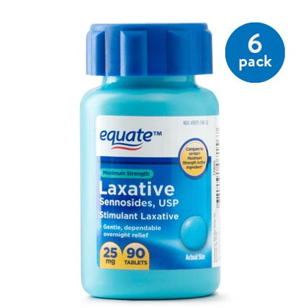 Citrucel Laxative ((6 Pack) Equate Maximum Strength Sennosides USP Laxative Tablets, 20 mg, 90 Ct )