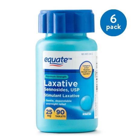 (2 Pack) Equate Maximum Strength Sennosides USP Laxative Tablets, 20 mg, 90 Ct