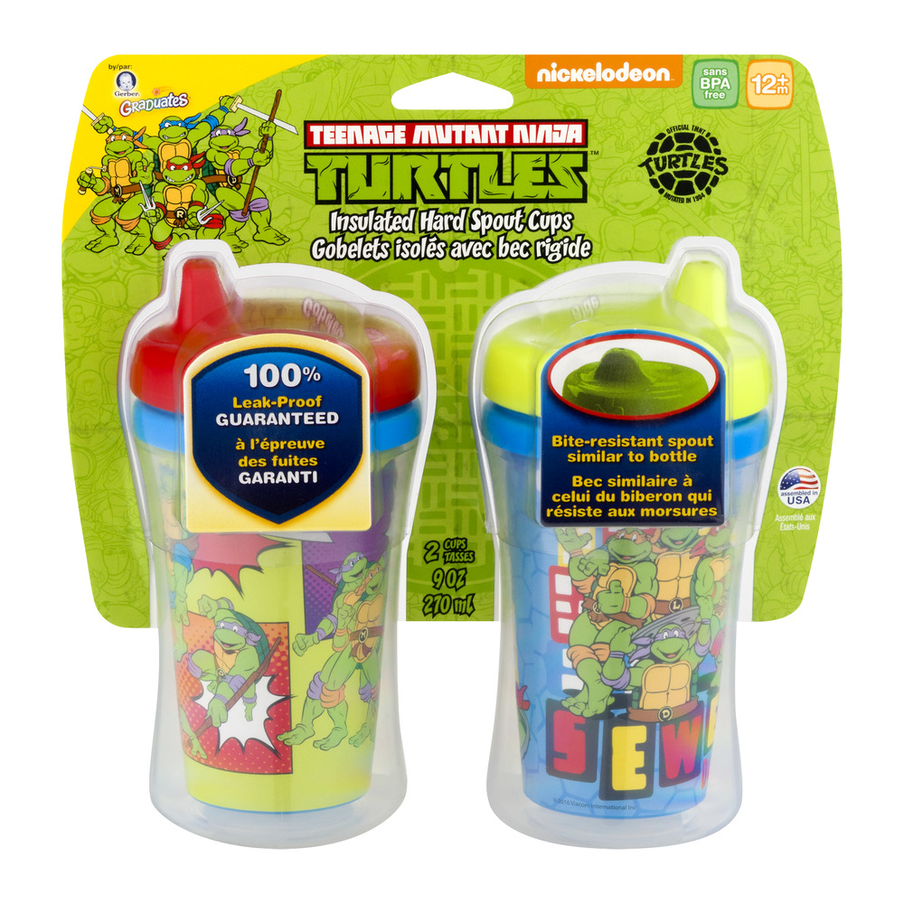 Gerber Graduates Teenage Mutant Turtles Cups 12M+ - 2 CT
