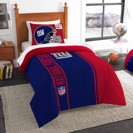 "New York Giants NFL Twin Comforter Set (Soft & Cozy) (64"" x 86"") by"