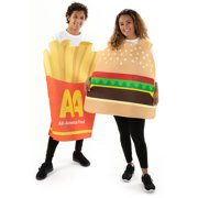 Hauntlook Burger & Fries Halloween Couple Costumes - Funny Unisex Food Suits for Adults
