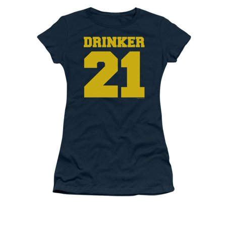 Drinker 21 Football Jersey Shirt Funny Humorous College Saying Jrs Sheer
