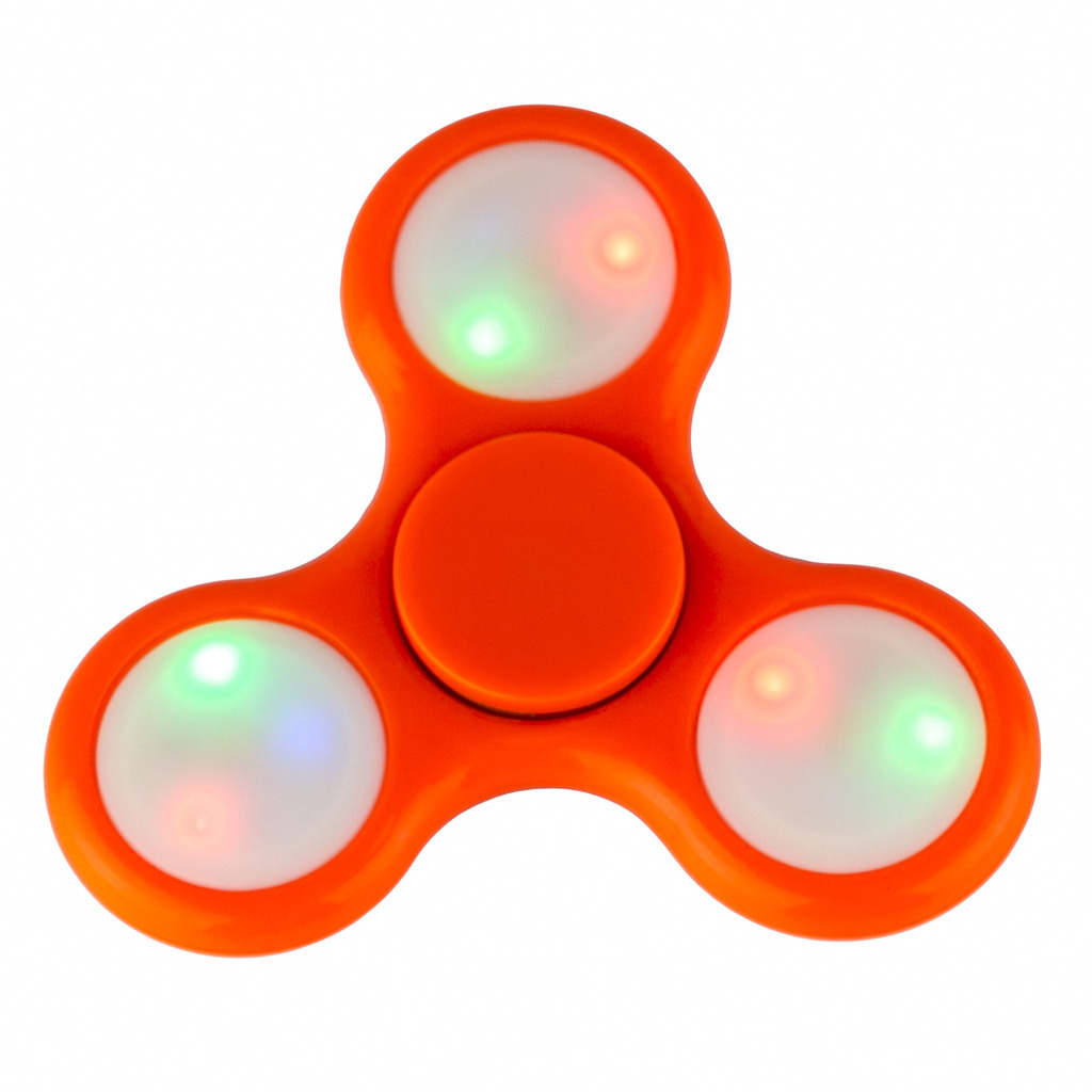 lux accessories orange led light toy fidget spinner hand spinner. Black Bedroom Furniture Sets. Home Design Ideas
