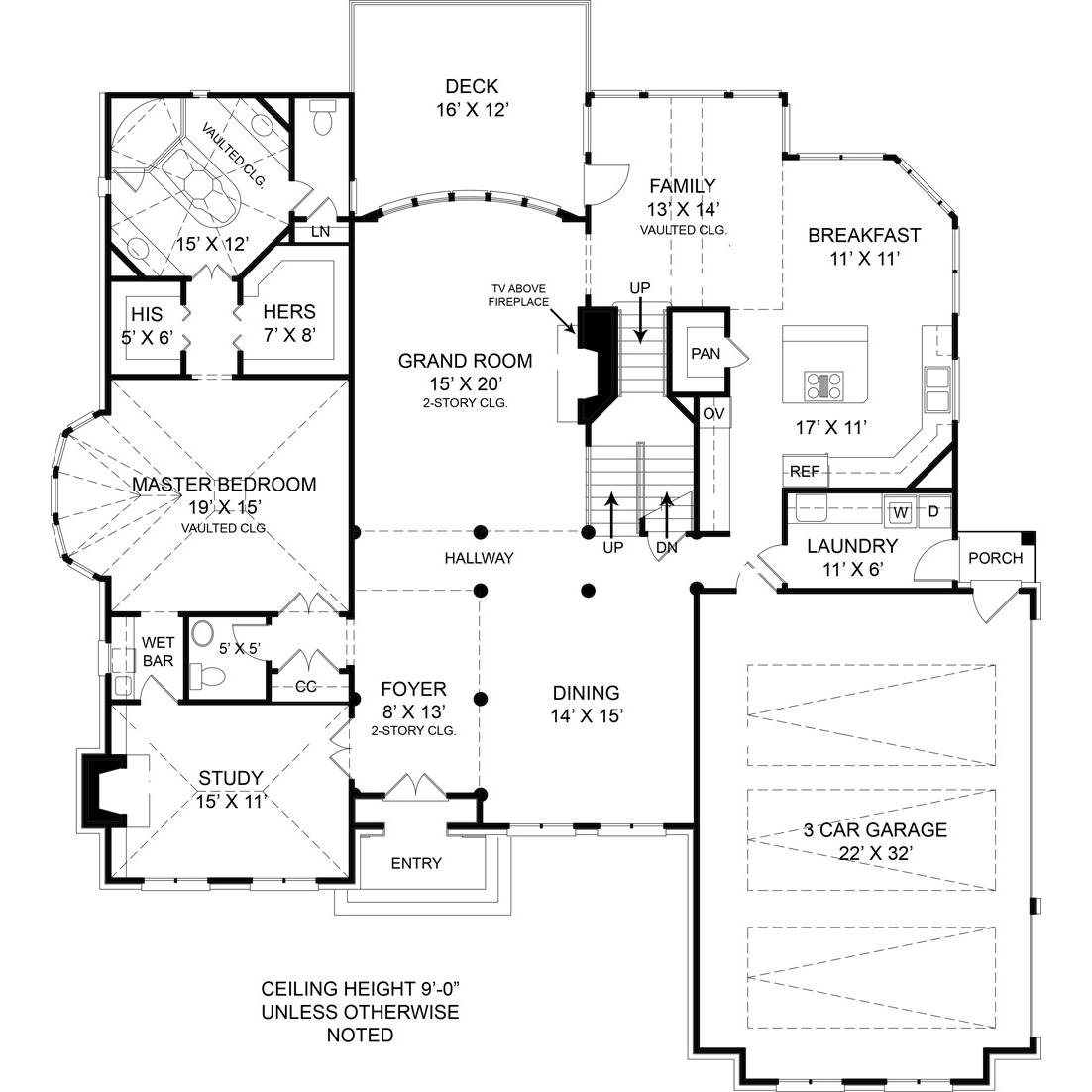 TheHouseDesigners-5989 Colonial House Plan with Basement Foundation (5 Printed Sets)