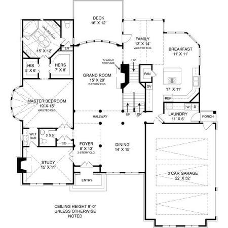 Thehousedesigners 5989 Colonial House Plan With Basement Foundation  5 Printed Sets