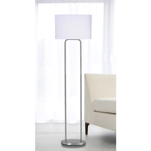 Duet Brushed Steel One-Light Floor Lamp
