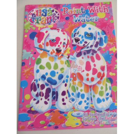 Lisa Frank NEW Paint with Water Paperback Book