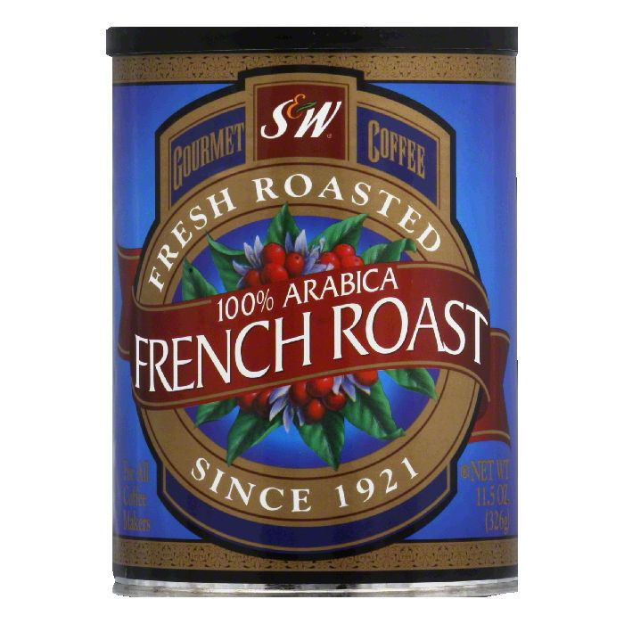 S&W Coffee 100% Columbian French Roast, 11.5 OZ (Pack of 6)