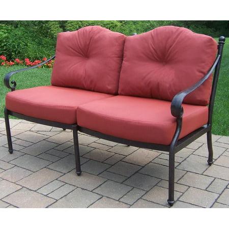 "56"" Black Aluminum Outdoor Furniture Patio Deep Seating ..."