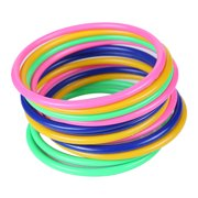 Ustyle 12PCS/Set Fun Game Intelligence Educational Toys Stacking Plastic Hoopla Ring Toss Cast Throw Circle Set Toy