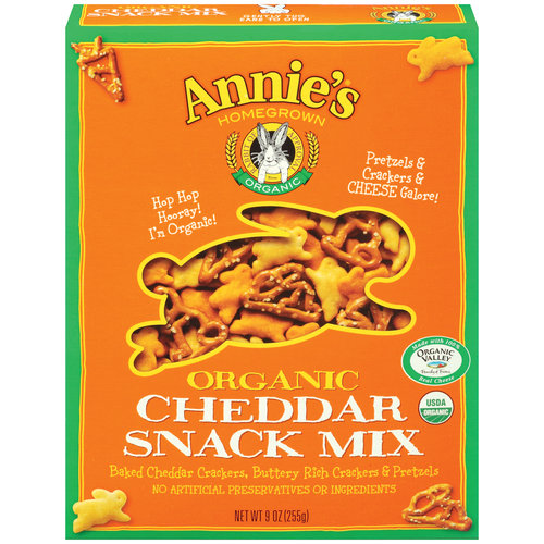 Annie's Homegrown Organic Bunnies Cheddar Snack Mix, 9 oz