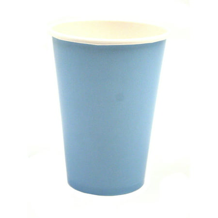12oz Paper Cups, Baby Blue, - Pink And Gold Wedding Theme