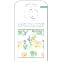 "First Bloom - Craft Consortium Decoupage Papers 13.75""X15.75"" 3/Pkg"