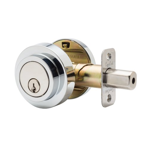 Copper Creek Mid Century Modern Style Contemporary Single Cylinder Deadbolt