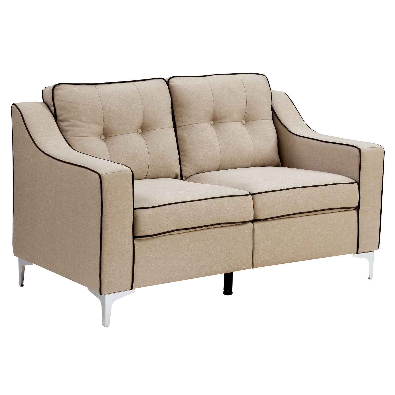 Furniture of America Lexana Contemporary Style Button Tufted Loveseat