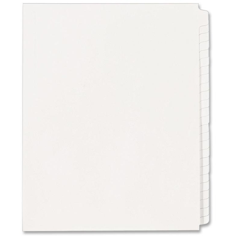 Avery Blank Tab Legal Exhibit Index Divider Set, 25-Tab, Letter, White, Set of 25 by Avery