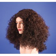 Star Power Super Curl Long Curly Fantasy Woman Wig, Brown, One Size