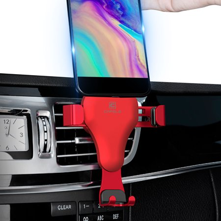 Car Mount, EEEKit Easy One Touch Universal Car Mount Air Vent Holder Dashboard Windshield Cradle Compatible with iPhone Xs MAX X XR Samsung S10 S10E S9 S9 (Nike Air Max 90 Metallic Silver Red)