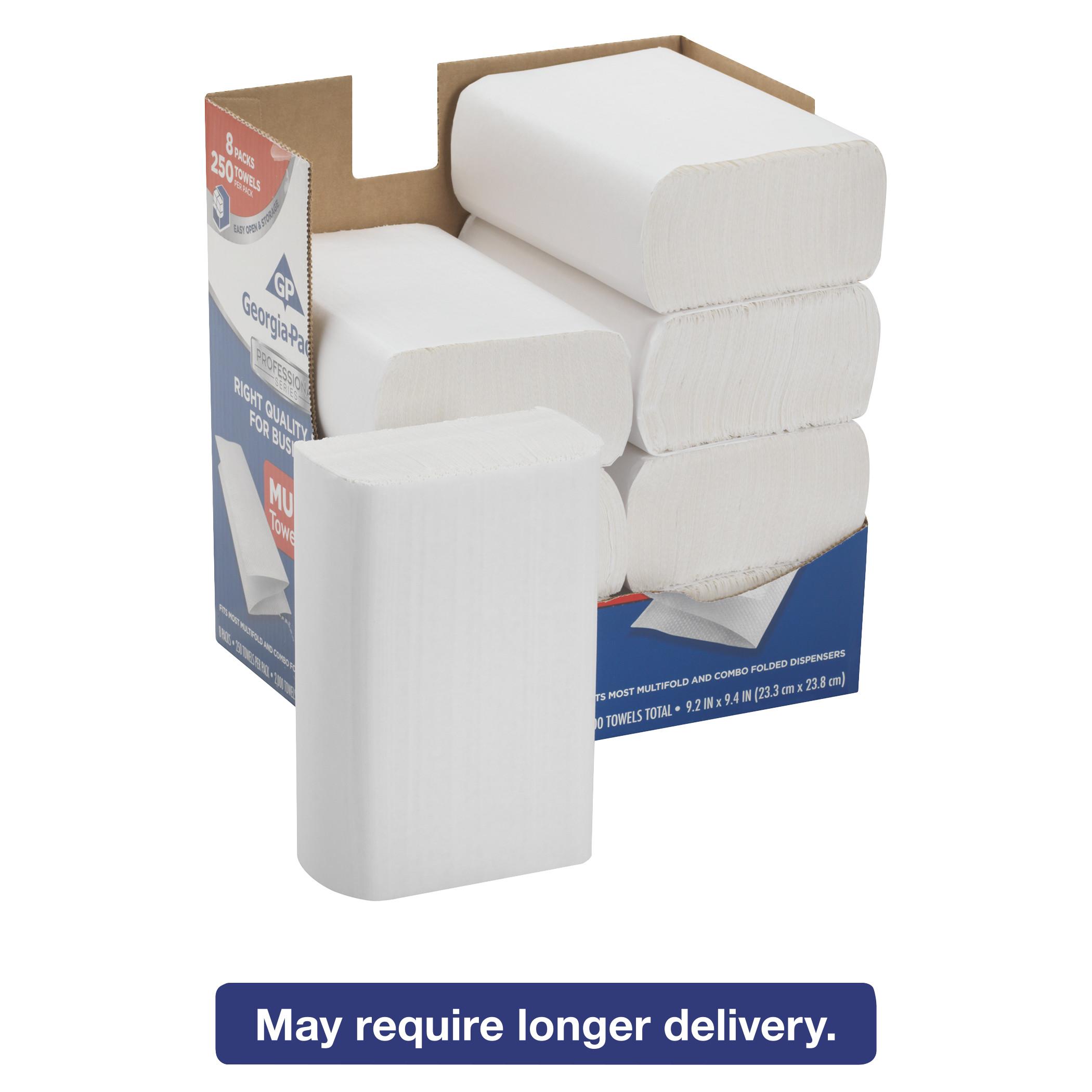 Georgia Pacific Professional Series Premium Paper Towels,M-Fold,9 2/5x9 1/5, 250/Bx, 8 Bx/Carton