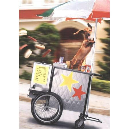 Avanti Press Runaway Hot Dog Cart Funny / Humorous Congratulations