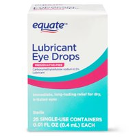 Equate Lubricant Eye Drops, 0.01 fl oz, 25 Count