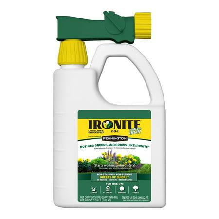 Ironite Liquid Lawn & Garden Spray 7-0-1 With 1% Iron, 32 oz (Liquid Lawn Food)