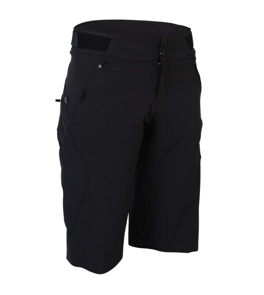 Zoic Womens Navaeh Black Large Bike Shorts with Liner by Zoic