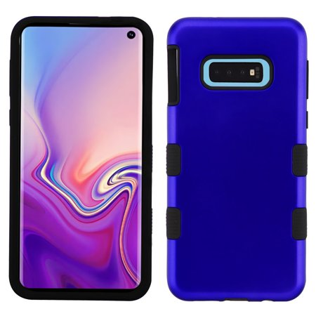 Telephone Test Set - TUFF Hybrid Series Compatible with Samsung Galaxy S10e, Military Grade Drop Tested Protector Phone Case and Atom Cloth - Blue