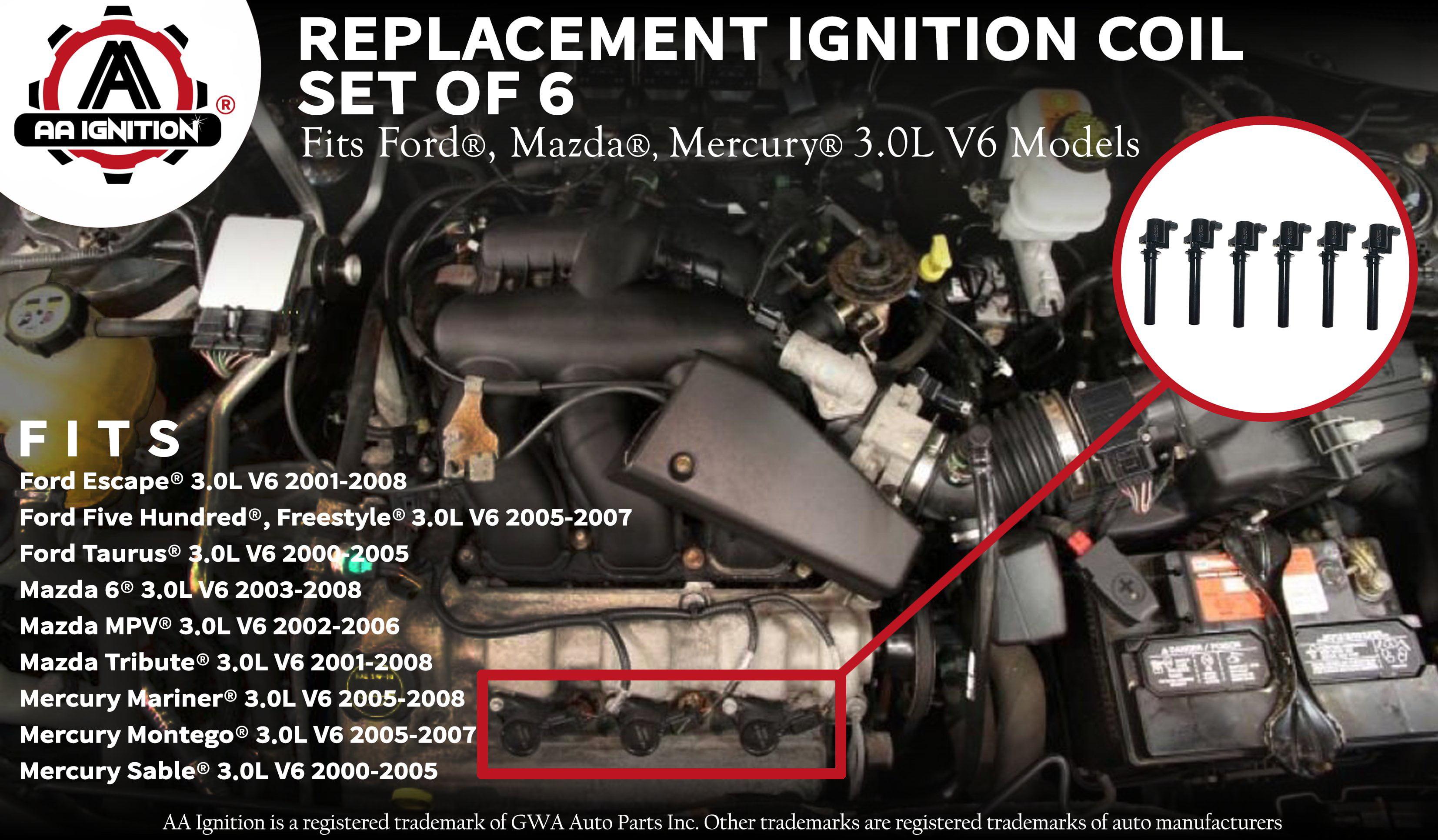 K/&N Filters Fits 2005-2007 Ford Mercury Hi-Flow Air Intake Filter