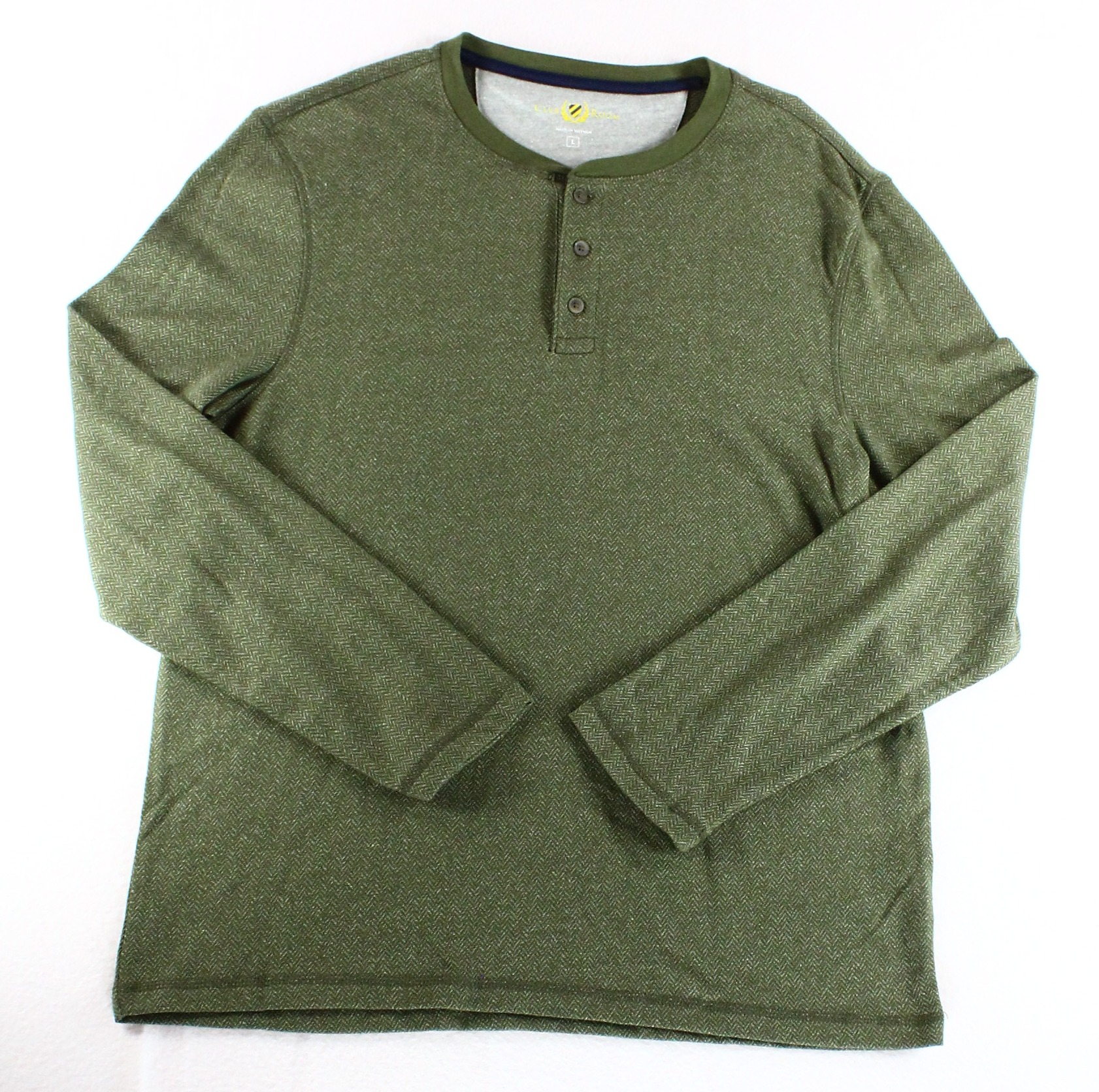 Club Room NEW Green Olive Mist Mens Size 2XL Henley Long-Sleeve Shirt $39