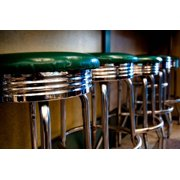 Retro Bar Stools I Print By Erin Berzel by Art.com