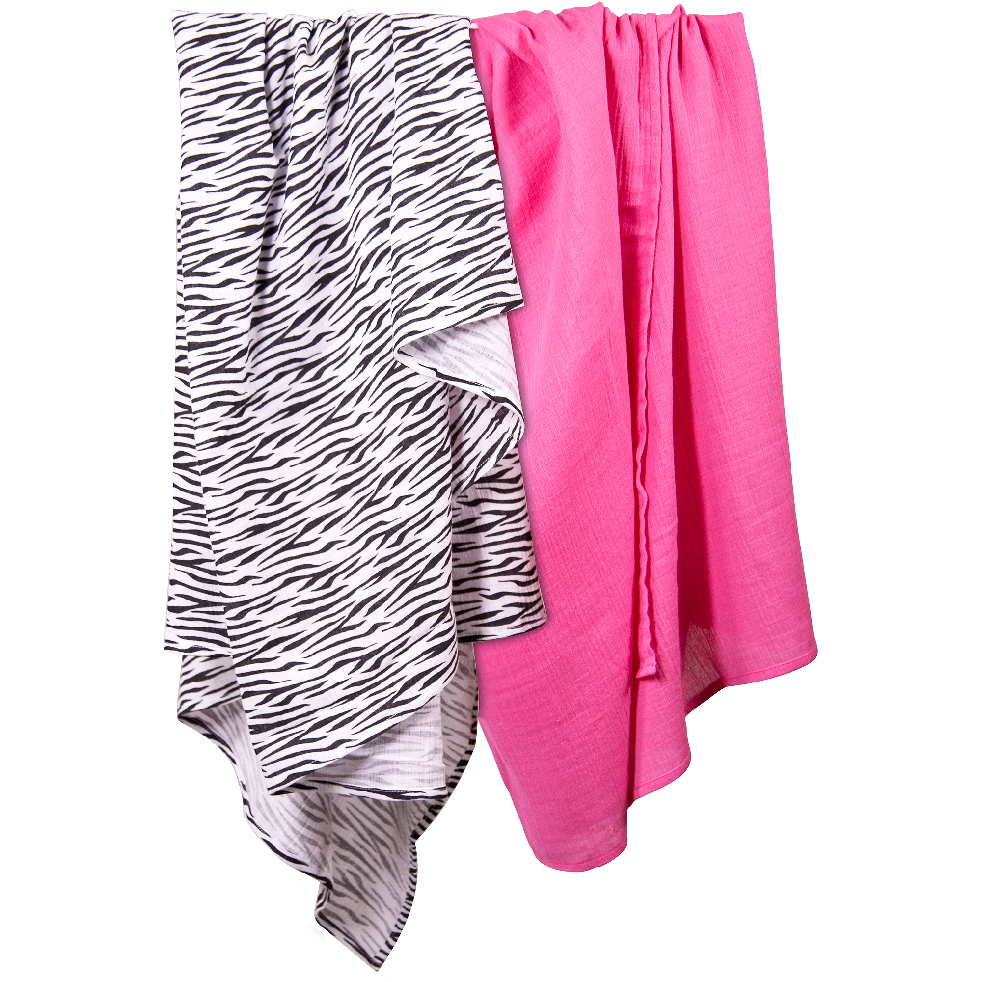 Summer Infant SwaddleMe Muslin Blanket, 2-Pack, Zebra Diva