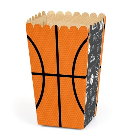 Nothin' But Net - Basketball - Baby Shower or Birthday Party Popcorn Favor Boxes - Set of 12 - Halloween Popcorn Ball