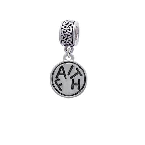 Faith in Circle - Celtic Knot Charm Bead