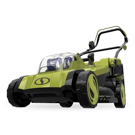 Sun Joe 24V-X2-17LM 48-Volt iON+ Cordless Lawn Mower Kit, 17-inch, 6-Position, W/ 2 x 4.0-Ah Batteries, Dual Charger, and Collection Bag