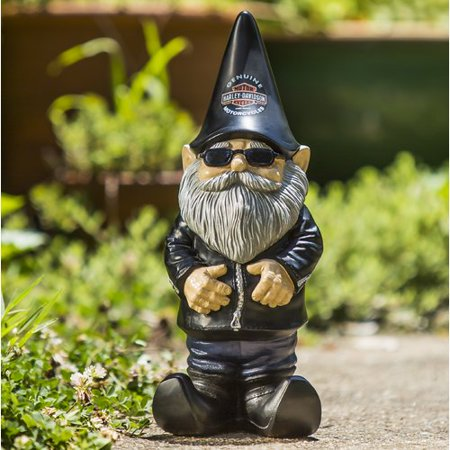 Chelsea Gnome (Evergreen Flag & Garden Knucklehead the Harley-Davidson Gnome Statue )