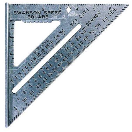 Swanson S0101 Speed Square with Black Markings & Swanson Blue Book (0.344 Square)