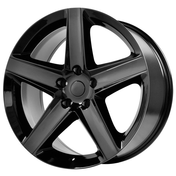"20"" Inch Replica 129B Jeep SRT8 20x9 5x127(5x5"") +34mm Gloss Black Wheel Rim"