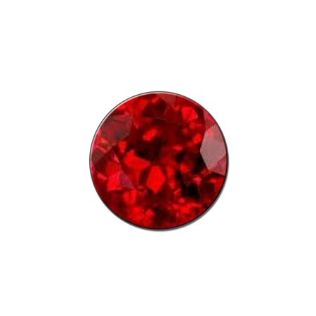 Ruby July Birthstone - Faux Resin Lapel Hat Pin Tie Tack Small Round