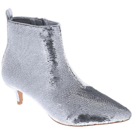 a51d9bb3d1 Weboo - Harmoni-14 Women Sequin Sparkle Pointed Toe Kitten Low Heel Ankle  Booties Boots Silver - Walmart.com