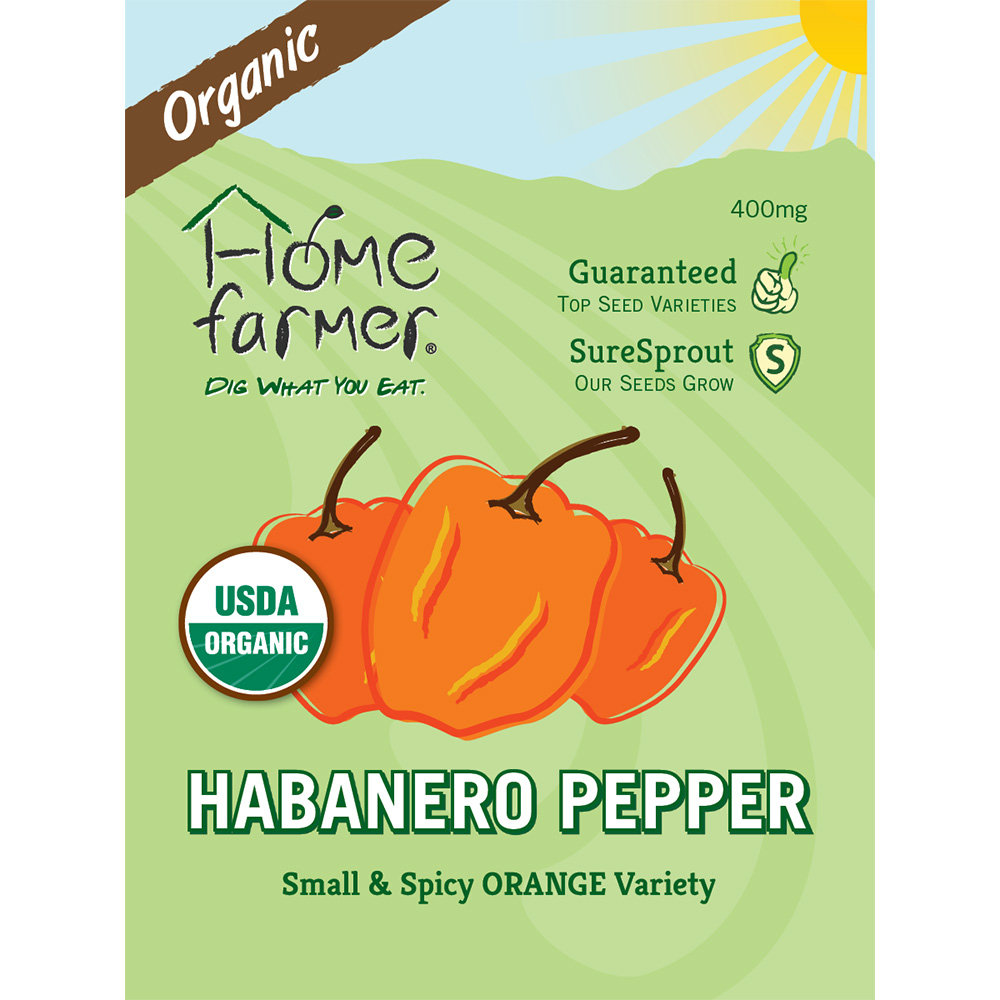 Organic Habanero Pepper (Orange) Seed Packet