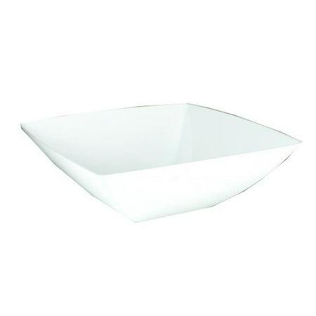 Maryland Plastics SQ80640 PEC 64 oz White Simply Squared Bowl - Case of 12 - image 1 of 1