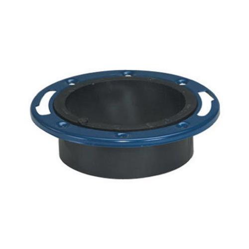 4 by 3 Inch ABS/DWV Closet Flange Hub End with Adjustable Metal Ring 52227 by Mueller