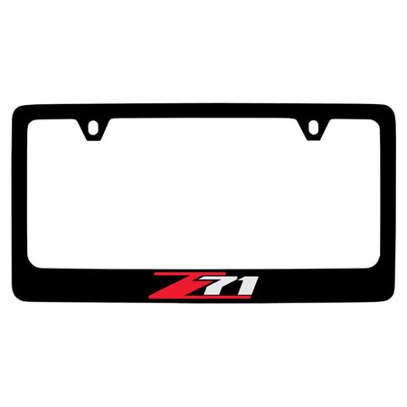 Chevrolet Z71 Black Coated Metal License Plate Frame Holder ...